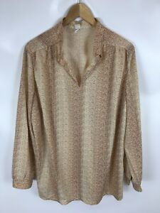 TRU-BLOUSE-Shirt-Vintage-mehrfarbig-Groesse-50