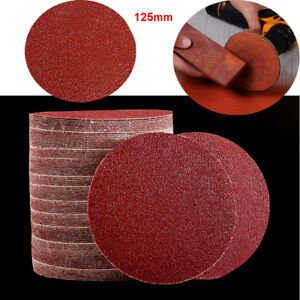 Wood and Metal 100x 5inch 8 hole Anti-Clogging Sander Pads for Polishing Paint