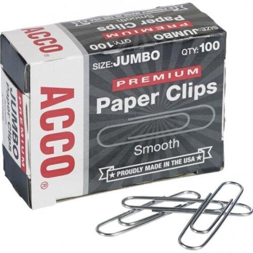 ACC72500 Silver,10-Pk Acco Premium Paper Clips Jumbo