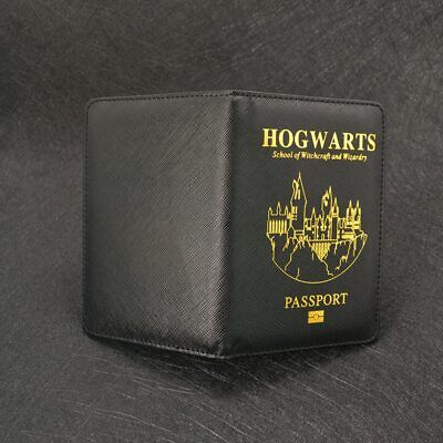 Passport Holder Cover Case Hogwarts Harry Potter Pu Leather Travel Customized