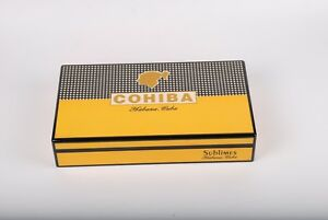 Cohiba-Humidor-Box-Spanish-Cedar-Humidifier-Hygrometer-Gloss-Holds-65-Brand-New