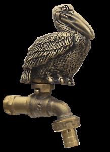 Brass Garden Tap Faucet Hornbill Bird Spigot Yard Vintage Home Decor Outdoor