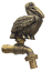 thumbnail 1 - Brass Garden Tap Faucet Hornbill Bird Spigot Yard Vintage Home Decor Outdoor