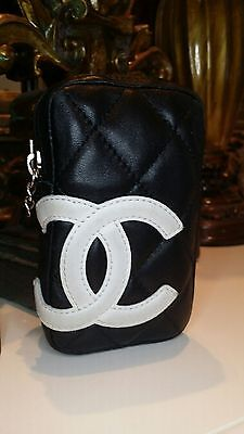 CHANEL with CC Logo Pouch/Wallet/ Bag / Cigarette Case / Purse/ Card Holder