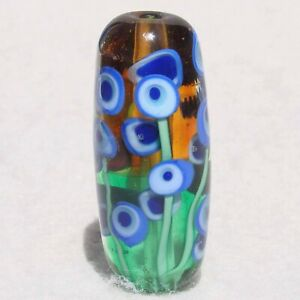 ALIEN-GARDEN-Handmade-Art-Glass-Focal-Bead-Flaming-Fools-Lampwork-Art-Glass-SRA