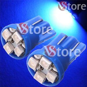 2-LED-T10-4-SMD-BLU-Lampade-Posizione-Luci-e-Targa-Per-Fari-XENON-Lampadine