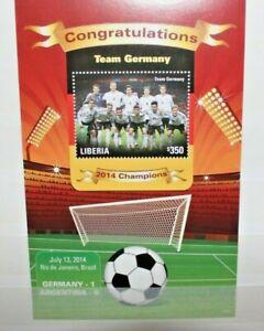 FRANCOBOLLI-LIBERIA-2014-034-WORLD-CUP-FOOTBALL-034-NUOVO-MNH-BLOCK-CAT-Z