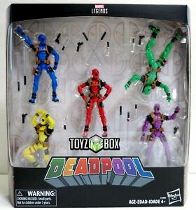 "Marvel Legends Universe Deadpool Rainbow Squad 5-Pack 3.75/"" figurines"