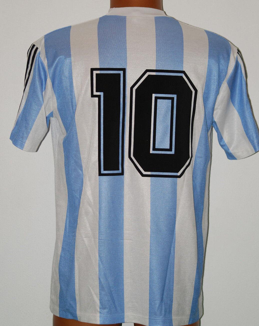 10 DIEGO MARADONA plataINA MAGLIA SHIRT CALCIO FOOTBALL MAILLOT JERSEY CAMISETA