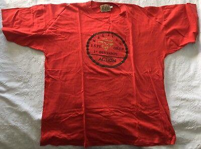 Ben Informato T-shirt Trussardi Action Vintage Rossa Come Nuova Cotone Tg. Xl Manica Corta