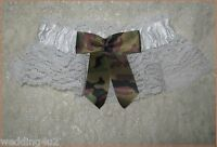 Redneck Wedding White Bridal Garter Hunter Hunting Camo Bow