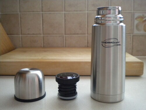 Genuine THERMOS FLASK ThermoCafe stainless steel vacuum flask 1L / 0.5L / 0.35L