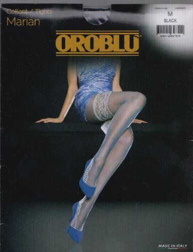 Oroblu Feinstrumpfhose Marian mit Spitzen-Füßlingen 30den  Gr Fb schwarz M