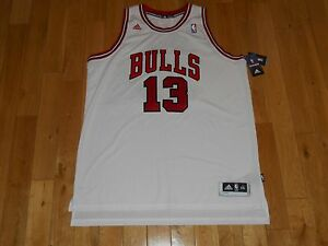ca5acf07393 New adidas JOAKIM NOAH White CHICAGO BULLS Mens NBA Swingman Team ...