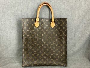 Authentic-Louis-Vuitton-Tote-Bag-Sac-Plat-M51140-Brown-Monogram