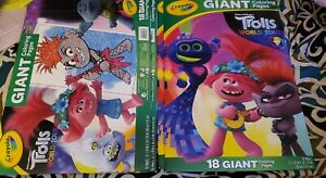 (4)Crayola DreamWorks Trolls World Tour GIANT Coloring ...