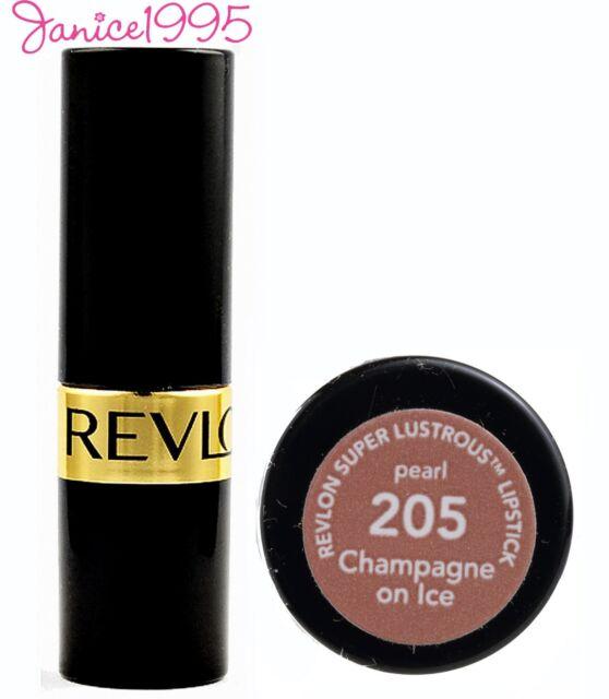 REVLON Super Lustrous Lipstick Pearl #205 CHAMPAGNE ON ICE