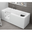 miniatura 8 - Badewanne mit Tür links und integrierter abnehmbarer Sitzbank für Senioren 170cm