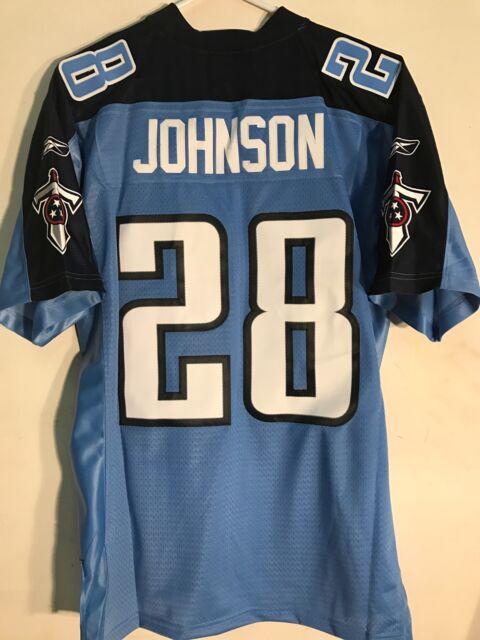 d71db161 Reebok Premier NFL Jersey Tennessee Titans Chris Johnson Light Blue sz XL