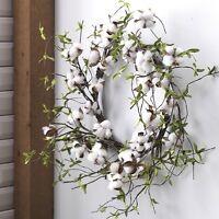 Newraz Imports26 Spring Cotton Boll Twig Wreatheaster/country/farmhouse