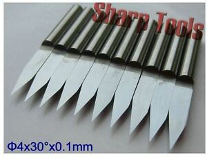 10pcs 4mm shank 60 Degree 0.1mm Carbide PCB Engraving Bits CNC Router Tool