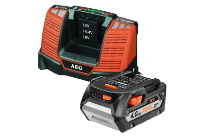 AEG 18V 4.0Ah Brushless Impact Driver Kit inc two 18V 4.0Ah pro lithium batterys