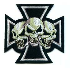 Eisernes Kreuz Totenkopf   Aufnäher  Patch  Iron Cross Skulls