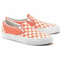Vans Classic Slip-on (checkerboard) Coral/white Shoes Vxg8dey