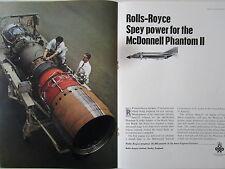 6/1966 PUB ROLLS-ROYCE SPEY 25 ENGINES MCDONNELL F-4K PHANTOM II ROYAL NAVY AD