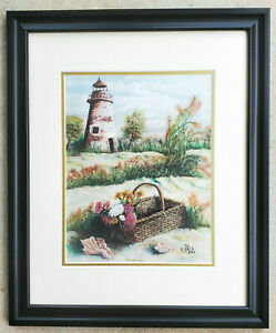 JERRY-LAPOLE-Limited-Edition-Hand-Signed-amp-Numbered-Lithograph-Florida-Beach