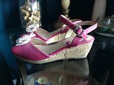 Nine West Women's Nkestella  Wedge Pink Size 5M