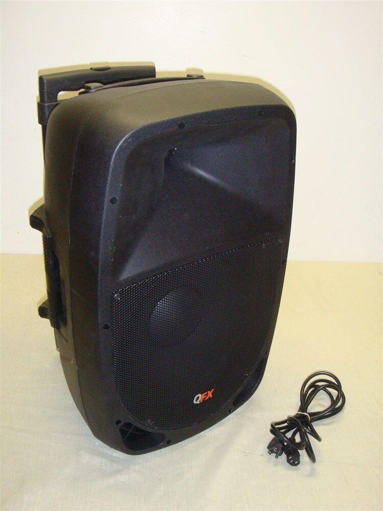 QFX PBX-1202BT 12  PORTABLE BATTERY POWErot PA SPEAKER W USB SD FM Blautooth