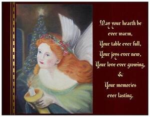 20 christmas irish blessing celtic angel flat greeting cards image is loading 20 christmas irish blessing celtic angel flat greeting m4hsunfo