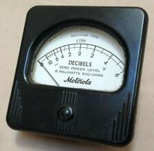 Vintage Motorola Decibel Panel Meter Simpson Electric Co Chicago Usa