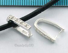 4x Brillante Colgante De Plata De Ley Broche Perla fianza Pin diapositiva #2325