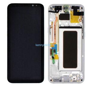 Pantalla-Completa-Lcd-Tactil-Display-Marco-Para-Samsung-Galaxy-S8-SM-G950F-Plata