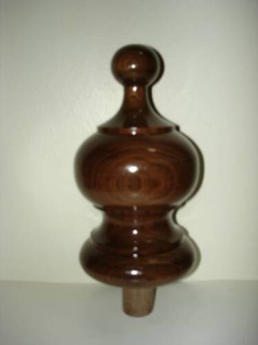 WOOD FINIAL UNFINISHED FOR NEWEL POST FINIAL OR CAP  Finial #46