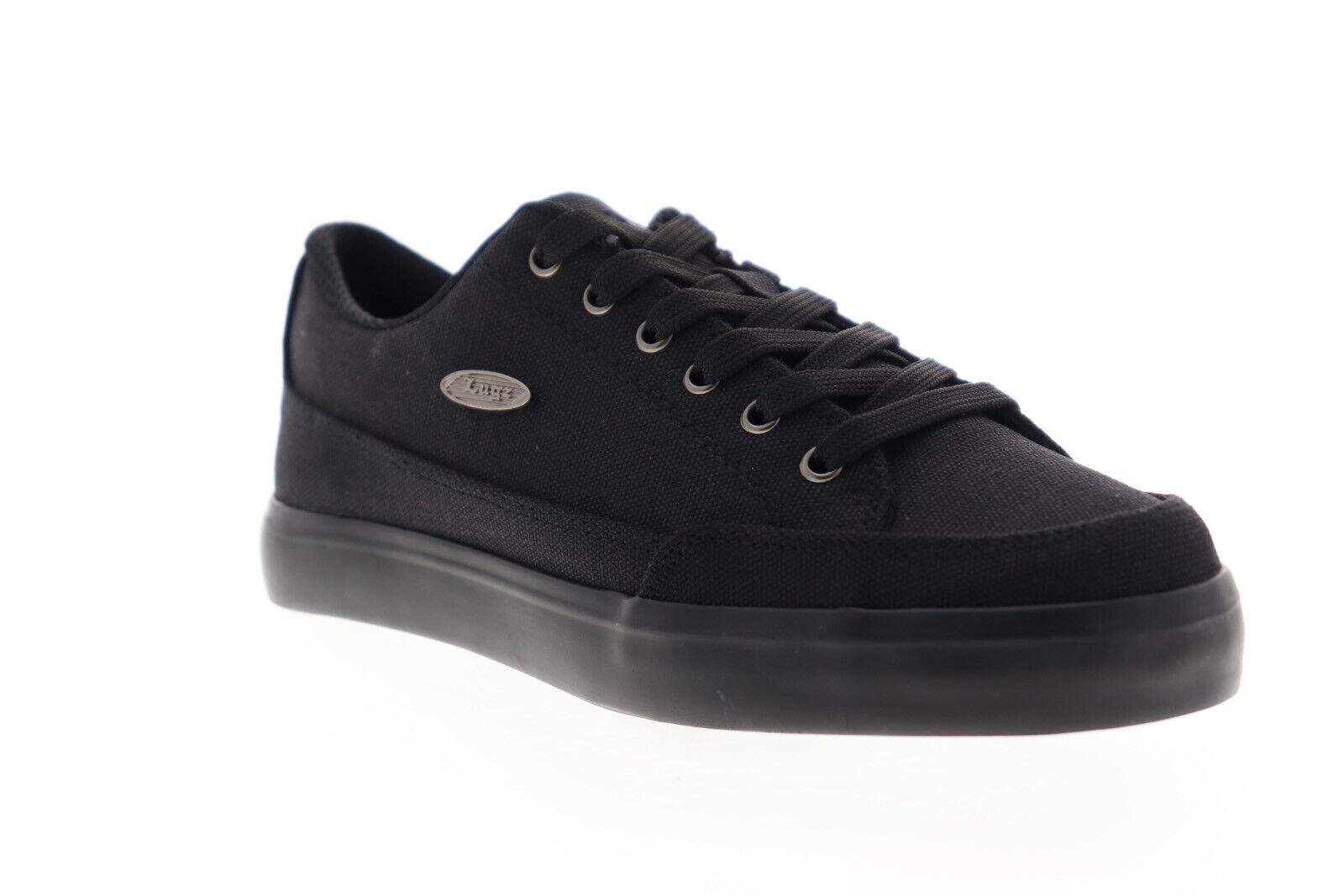 Lugz Colony CC MCOLCC-001 Mens Black Canvas Low Top Lifestyle Sneakers Shoes