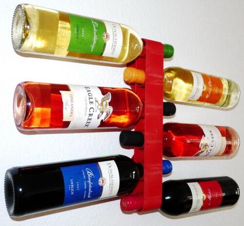 DESIGN Weinregal Weinhalter Flaschenregal Wandhalter Flaschenhalter 4 Farben NEU