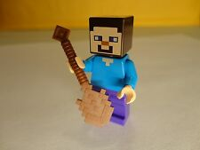 LEGO STEVE w/ Wood Shovel 21114 MINECRAFT The Farm NEW minifigure mini fig