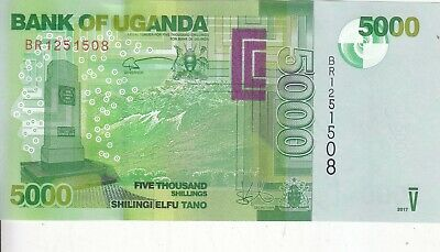 Uganda 5000 UNC 2018 Shillings 5,000 2017 P-NEW