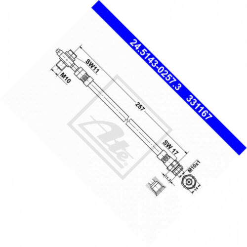 ATE 24.5143-0257.3 pneumatico si adatta per VW Passat Variant 365