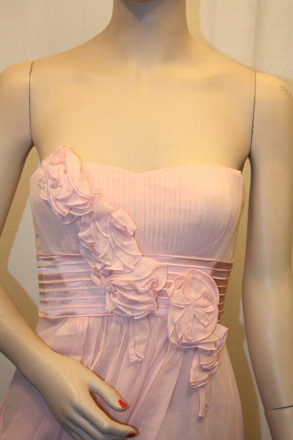 NEW BCBG MAXAZRIA PETAL PETAL PETAL EMILY STRAPLESS DRESS WITH pinkTTES SIL6M309 M98W SIZE 8 edbe44