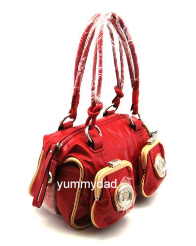 MIMCO MINI METAL BUTTON ZIP TOP BAG IN SCARLET RED BNWT RRP$399