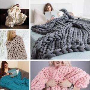 45M-Super-Soft-DIY-Knitting-Wool-Yarn-Roving-Bulky-Chunky-Roving-Crocheting-Hot
