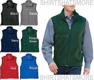 Mens Soft Polar Fleece Vest Sleeveless Jacket Warm Winter Coat S ...