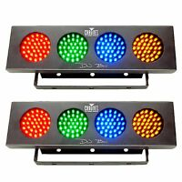Chauvet Dj Bank Rgba Led Sound Active Color Party Wash Effect Light (2 Pack) on sale