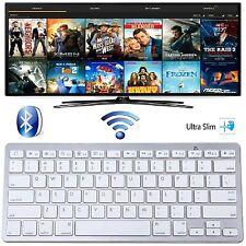 Delgado Teclado Inalámbrico Bluetooth 3.0 para PC de Escritorio Laptop tabletas Androides UK