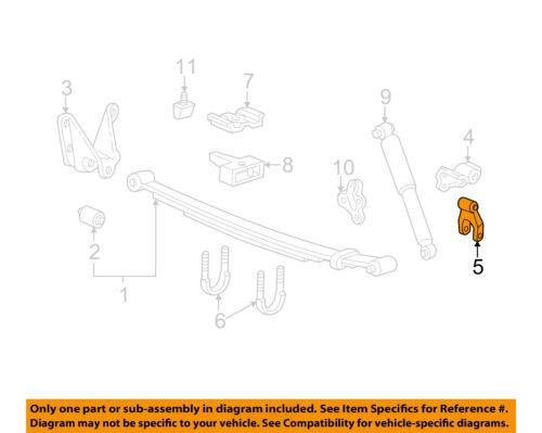FORD OEM 04-08 Ranger Rear Suspension-Shackle E6TZ5776B
