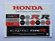 Honda Civic The Power of Dreams Stickers Le Mans, Touring Cars S.